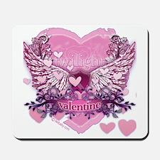 Twilight Valentine Heart Wings Mousepad