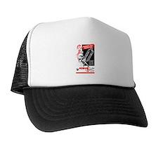 Cute Retro pin up hot rod Trucker Hat