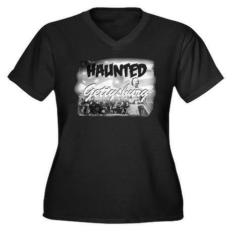 Haunted Gettysburg Women's Plus Size V-Neck Dark T