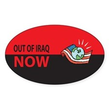 Out Now Oval Decal