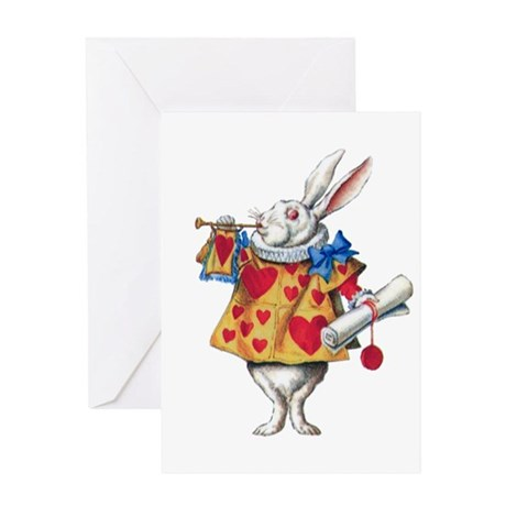 ALICE'S WHITE RABBIT Greeting Card
