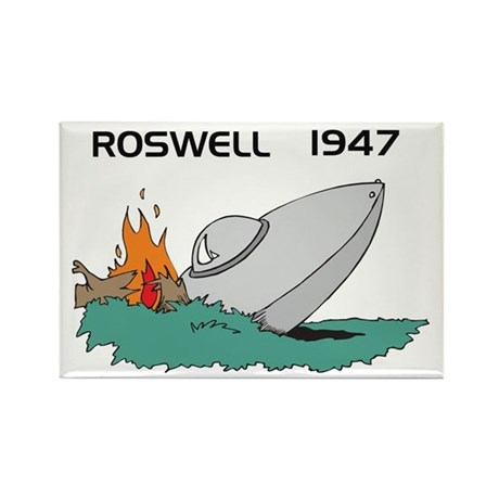 Roswell 1947 UFO Rectangle Magnet