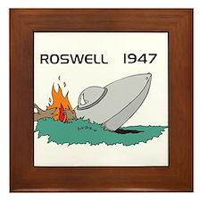 Roswell 1947 UFO  Framed Tile