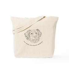 Toller Line Art Tote Bag