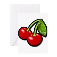 cherries Greeting Cards