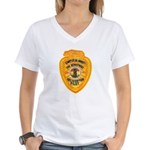 L.A. County Fire Copter Pilot Women's V-Neck T-Shi