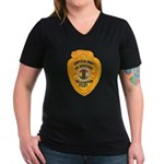 L.A. County Fire Copter Pilot Women's V-Neck Dark