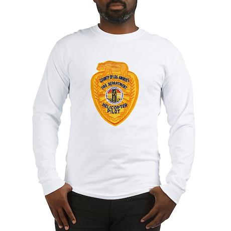 L.A. County Fire Copter Pilot Long Sleeve T-Shirt