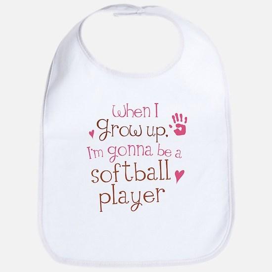softball_player_future_brown Baby Bib
