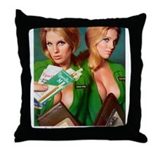 Unique Red head pinup girl Throw Pillow