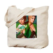 Unique Red head pinup girl Tote Bag