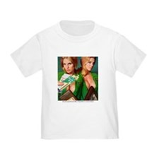 Cute Red head pinup girl T