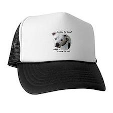 Funny Pit bull rescue Trucker Hat