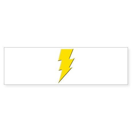 Yellow Lightning Bumper Sticker