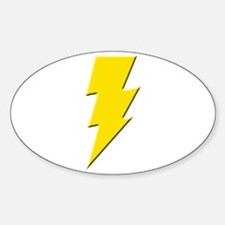 Yellow Lightning Oval Decal