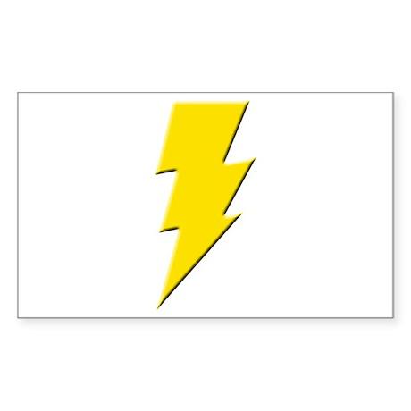 Yellow Lightning Rectangle Sticker
