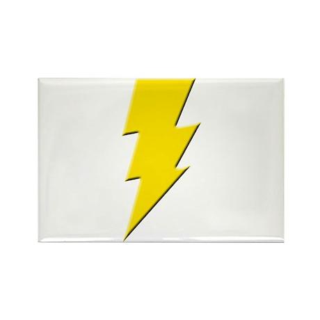 Yellow Lightning Rectangle Magnet (10 pack)