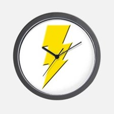 Yellow Lightning Wall Clock