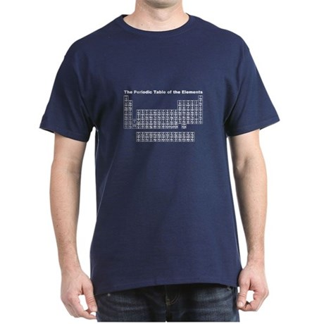 Periodic Table Elements Dark T-Shirt