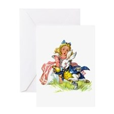 ALICE & THE WHITE RABBIT Greeting Card