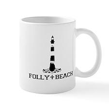Folly Beach SC - Lighthouse Design Mug