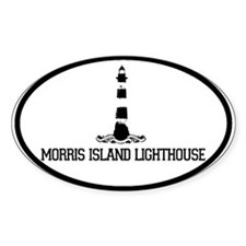 Morris Island Lighthouse SC Oval Decal