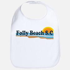 Folly Beach SC - Beach Design Bib