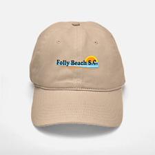 Folly Beach SC - Beach Design Baseball Baseball Cap