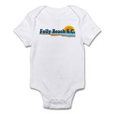 Folly Beach SC - Beach Design Infant Bodysuit