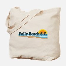 Folly Beach SC - Beach Design Tote Bag