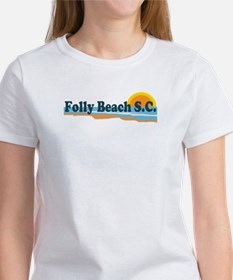 Folly Beach SC - Beach Design Tee