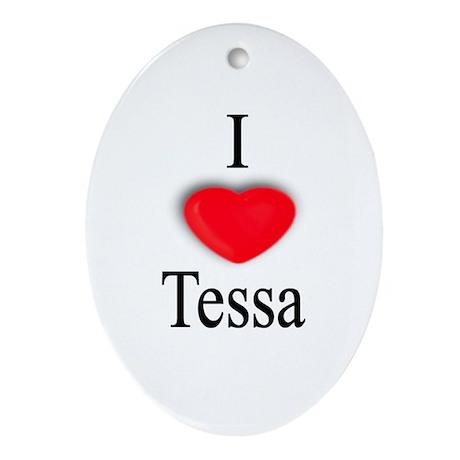 Tessa Oval Ornament
