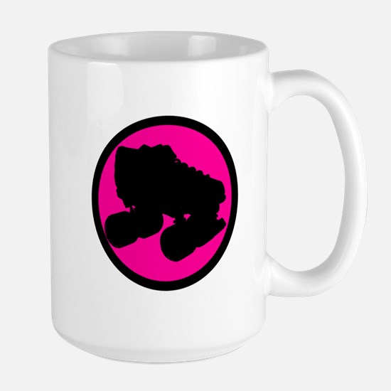Pink Circle Skate Large Mug