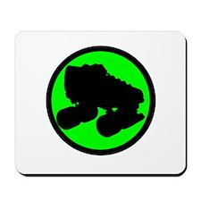 Circle Skate Green Mousepad
