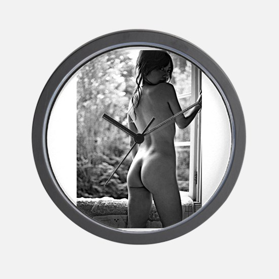 Window Girl Wall Clock