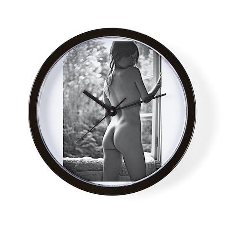 Window Girl Wall Clock