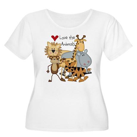 Love the Animals Women's Plus Size Scoop Neck T-Sh