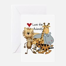 Love the Animals Greeting Card