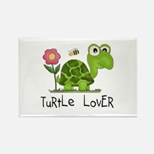 Turtle Lover Rectangle Magnet (10 pack)