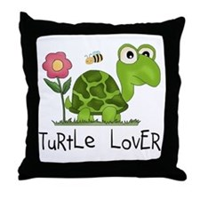 Turtle Lover Throw Pillow