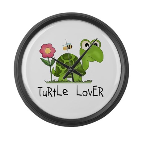 Turtle Lover Large Wall Clock