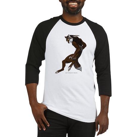 Jumping Wolf Baseball Jersey