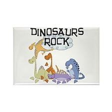 Dinosaurs Rock Rectangle Magnet