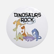 Dinosaurs Rock Ornament (Round)