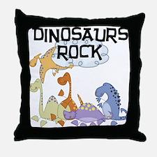 Dinosaurs Rock Throw Pillow