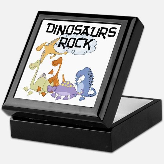Dinosaurs Rock Keepsake Box