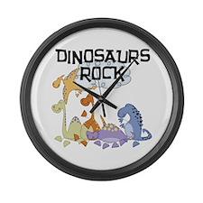 Dinosaurs Rock Large Wall Clock