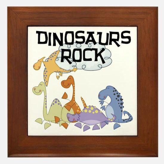 Dinosaurs Rock Framed Tile