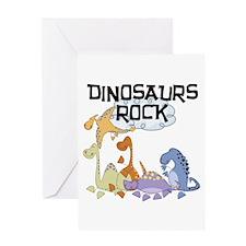 Dinosaurs Rock Greeting Card