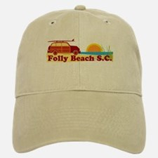 Folly Beach - Surfing Design Baseball Baseball Cap